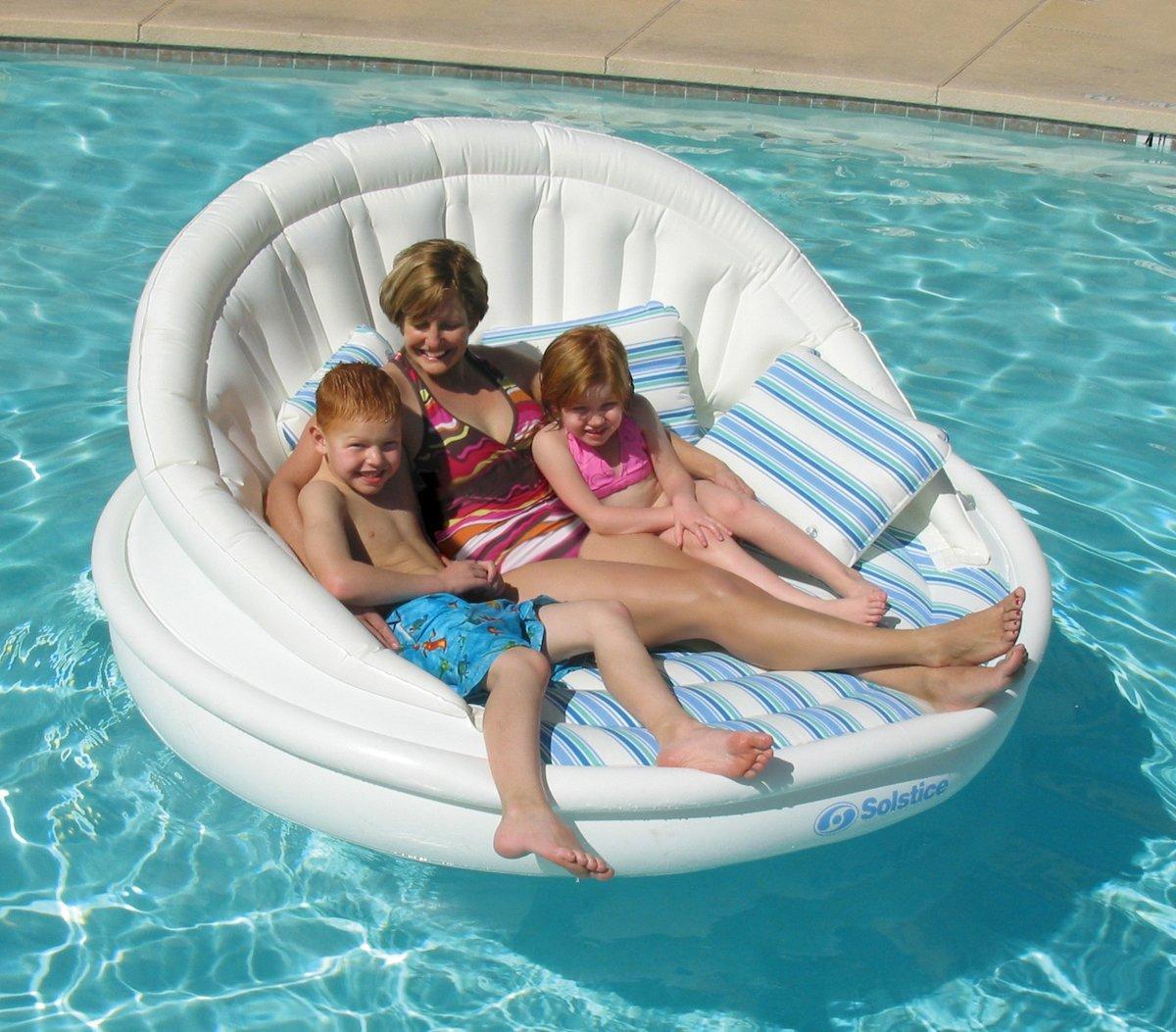 Виды необычных надувных диванов: диван для семьи