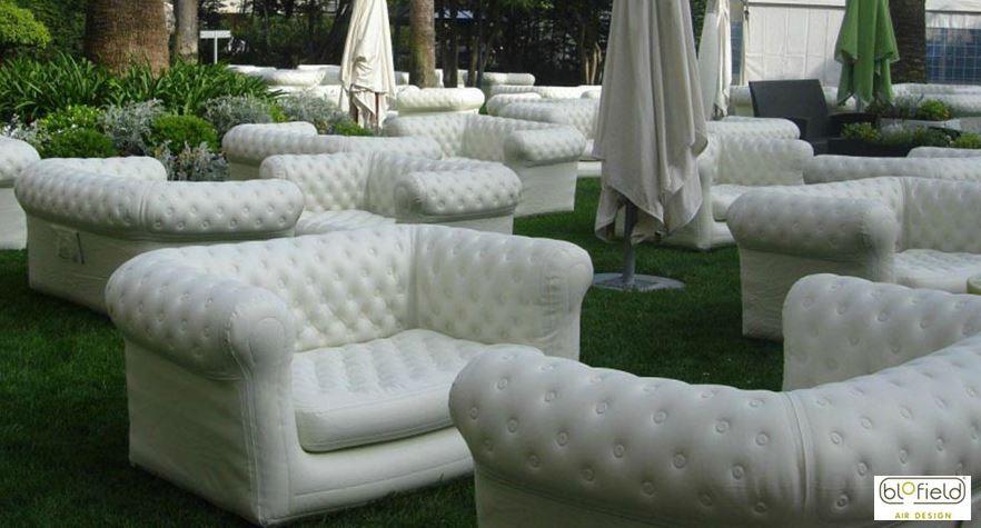 Виды необычных надувных диванов: диваны Blofield Air