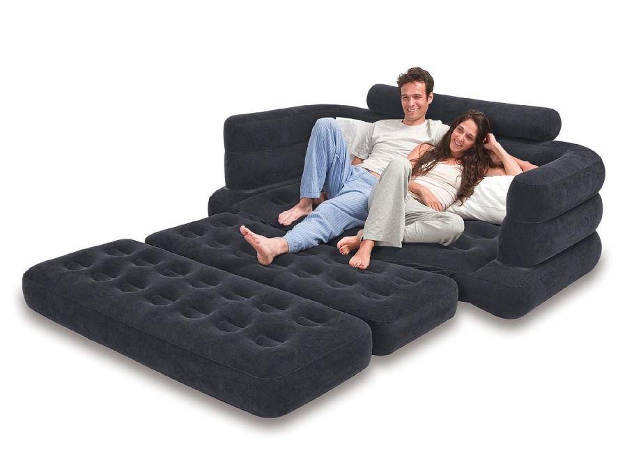 Виды необычных надувных диванов: диваны могут раскладываться