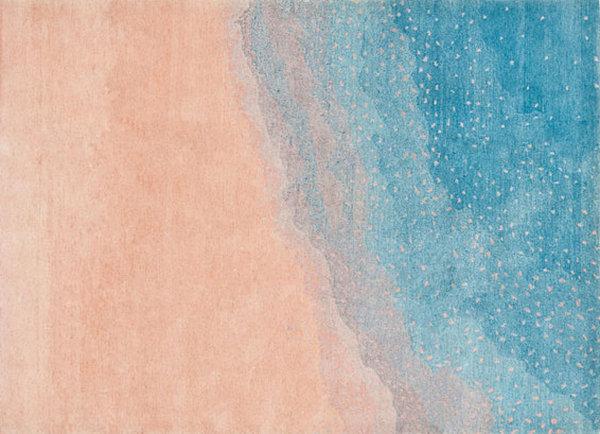 Ковёр мечты в сине-персиковом цвете