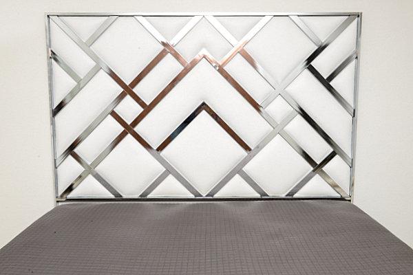 Изголовье кровати с геометрическими мотивами в стиле Art Deco