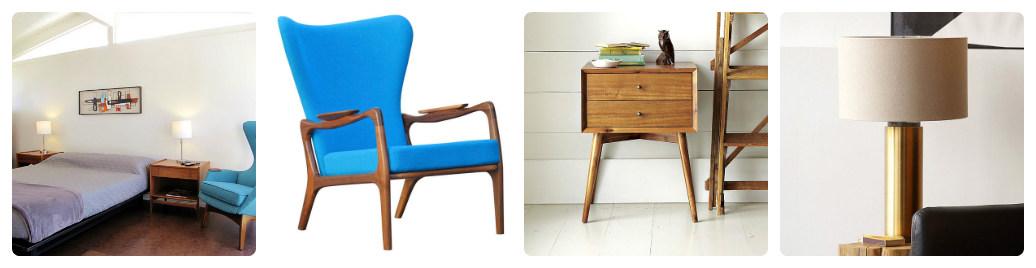 Предметы мебели для спальни в винтажном стиле
