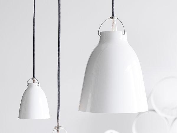 Белый, куполообразный светильник