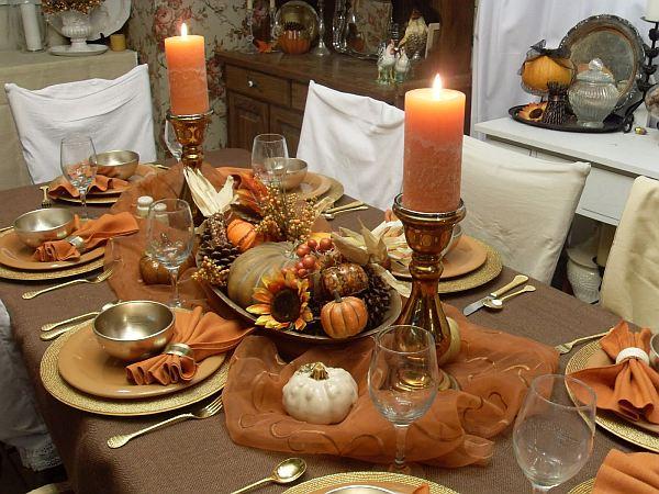 Старый загородный домик - художественные оформления осеннего стола