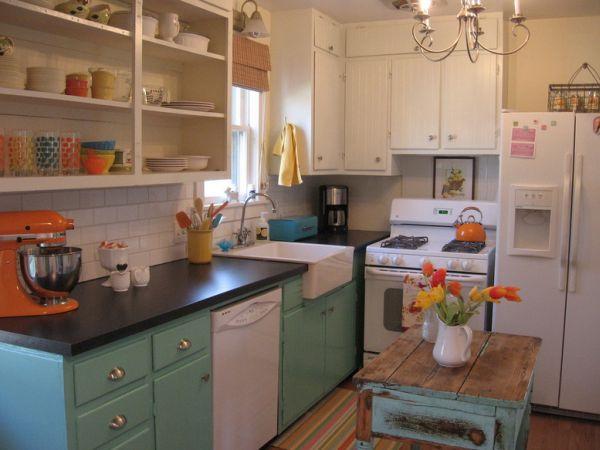Оформление кухонной зоны в стиле винтаж