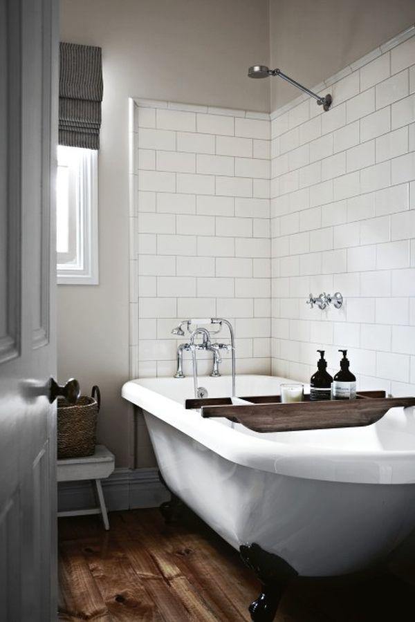 Дизайн интерьера ванной комнаты в стиле винтаж