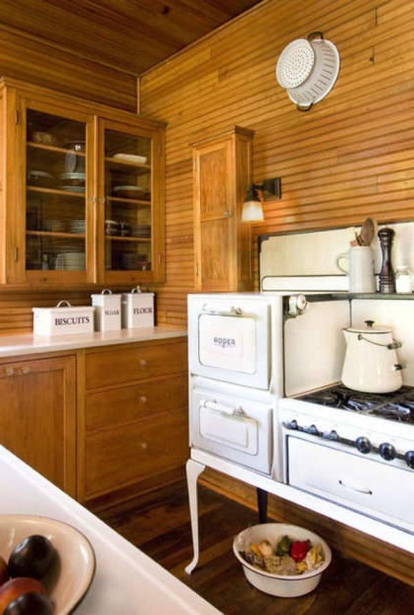 Дизайн интерьера кухонной зоны в стиле винтаж