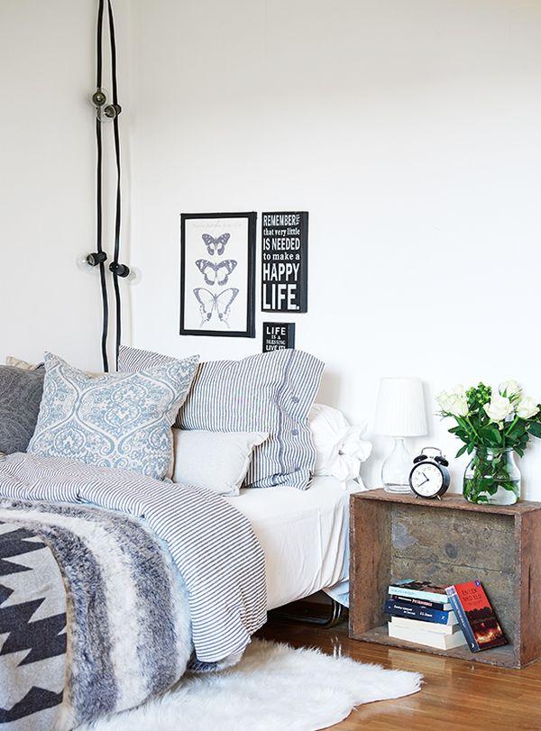 Оформление спальной комнаты в стиле винтаж