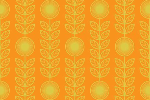 Оранжевые обои с узором
