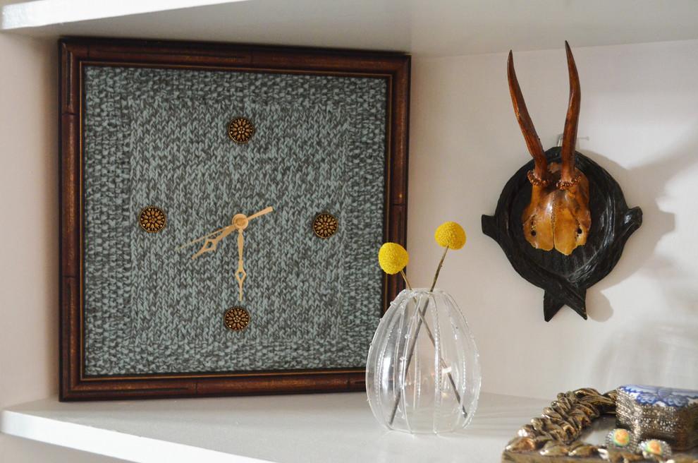 Вязаный текстиль для дома - декор для часов