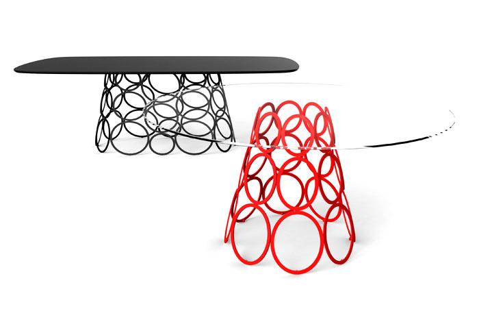 Выставка дизайнерской мебели: журнальный столик со стеклянной столешницей - Фото 1