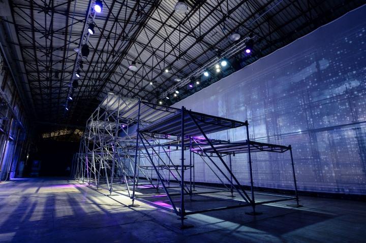 Металлическая конструкция выставочной инсталляции от Migliore + Servetto Architects