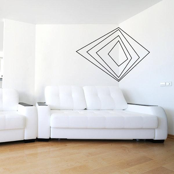 Наклейка с геометрическим узором