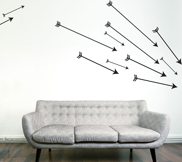 Наклейка на стену стрелы