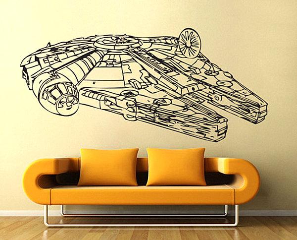 Наклейка на стену космический корабль