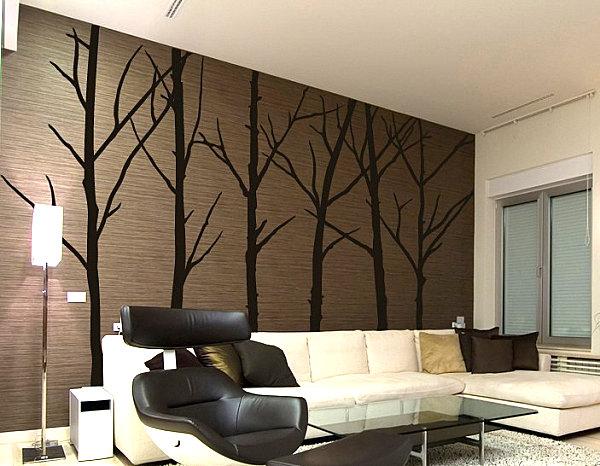 Наклейка на стену зимние деревья
