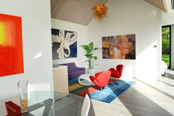 Картины в стиле фьюжн в гостиной