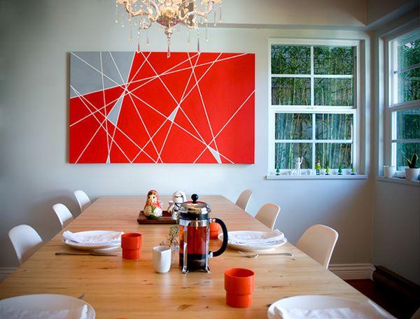 Картина из цветных клейких лент