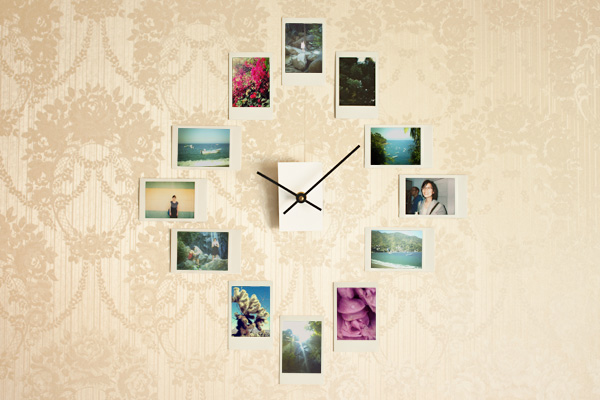 Часы на стене из фото своими руками
