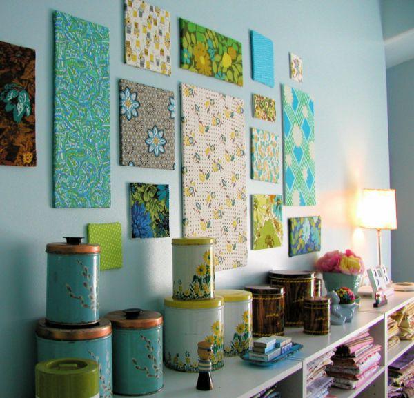Настенные художественные полотна из ткани