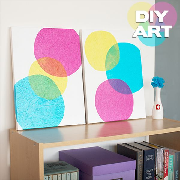 Картина с пузырями из салфеток