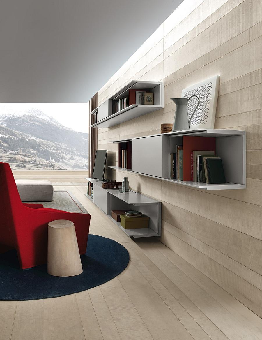 Модульная система в видовой гостиной