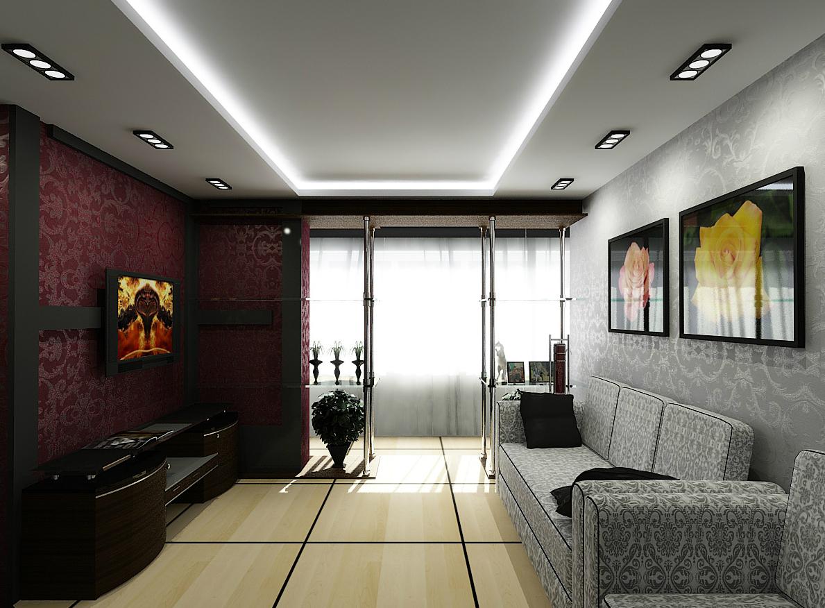 Бесподобное оформление стен гостиной зоны