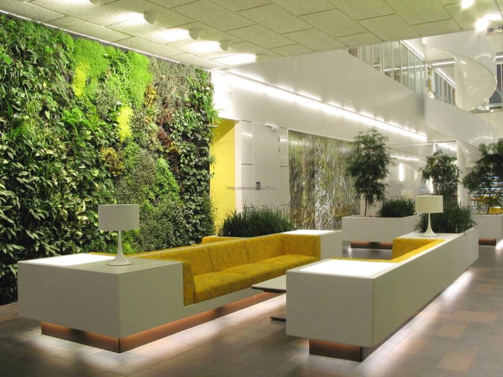 Креативное оформление стен гостиной зоны
