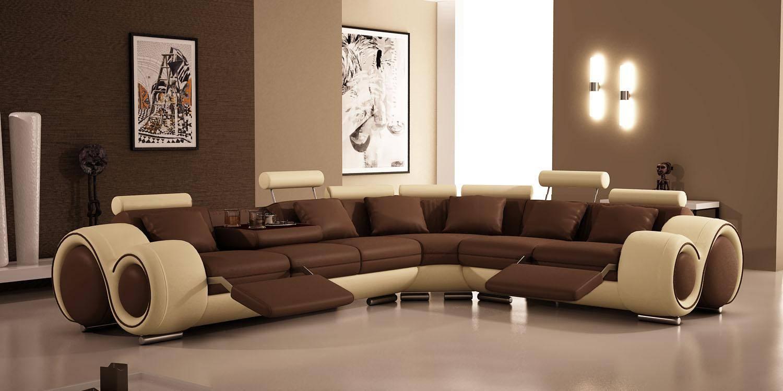 Фото современных диванов в интерьере гостиной