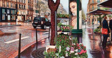 Городские ландшафты в гиперреалистичных картинах Натана Уолша