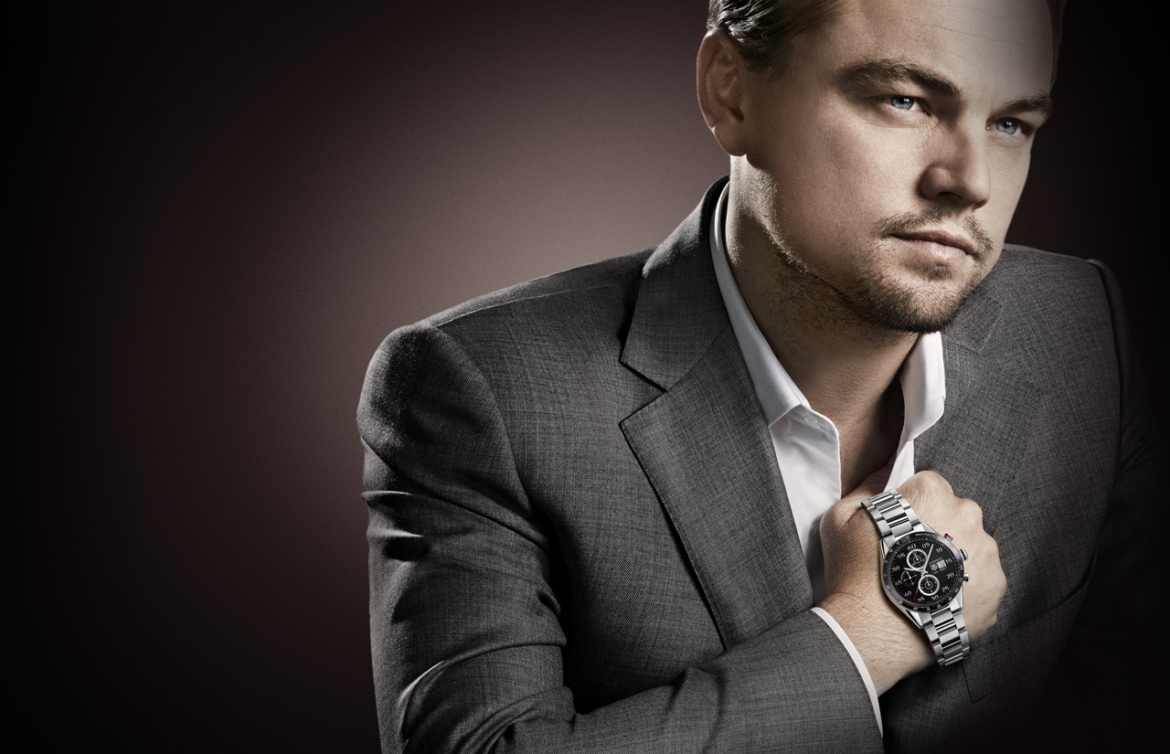 Мужские часы марки Tag Heuer на Леонардо Дикаприо