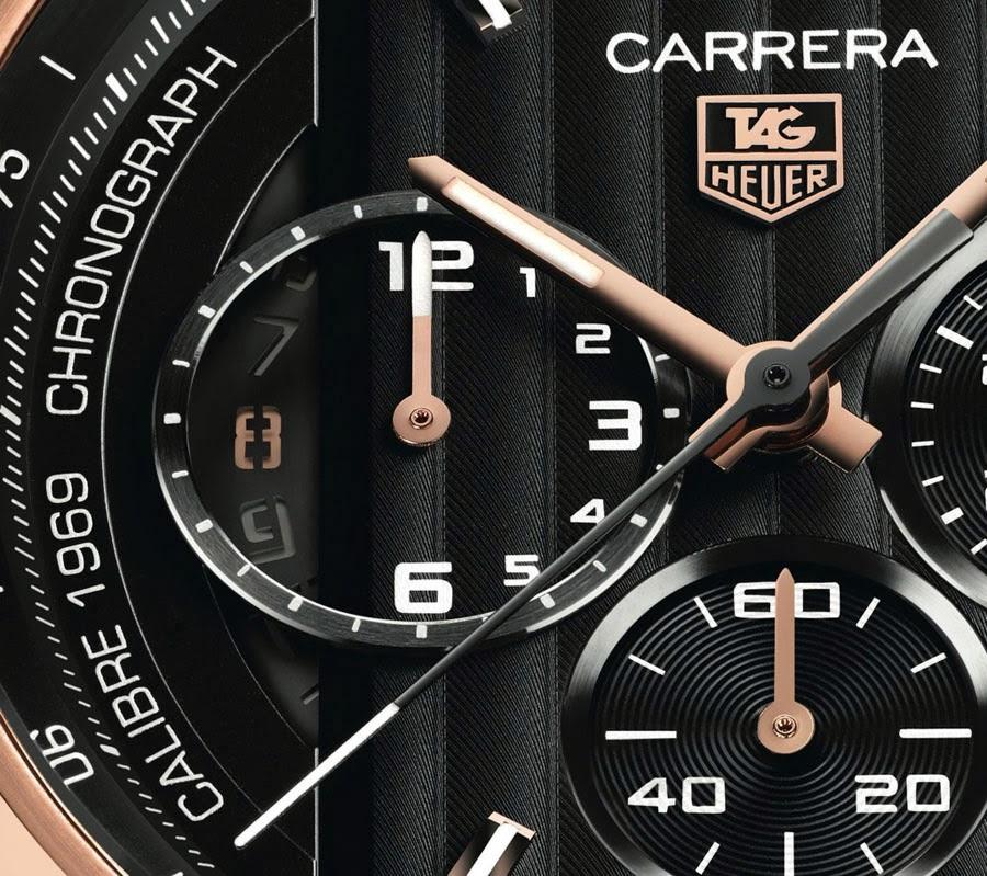 Циферблат часов Tag Heuer из коллекции Grand Carrera