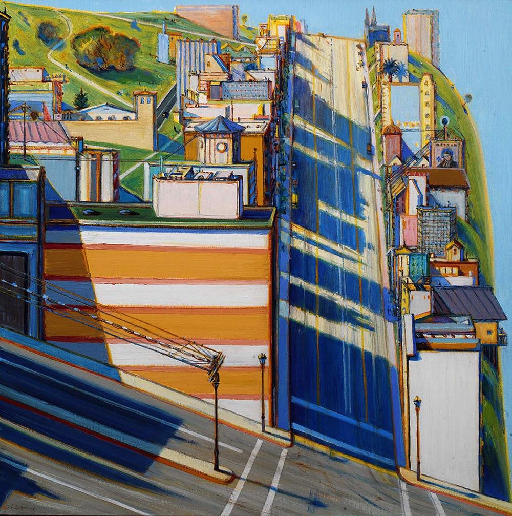Уэйн Тибо: живописные городские пейзажи с искажённой перспективой