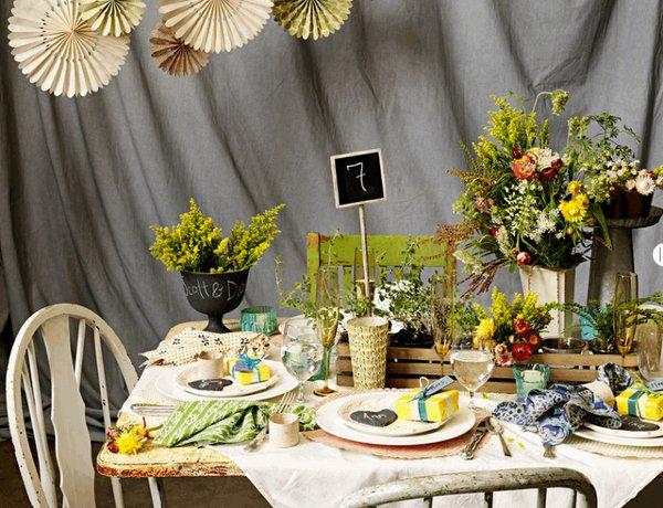 Чудесная сервировка свадебного стола