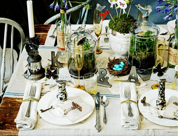 Восхитительная сервировка свадебного стола