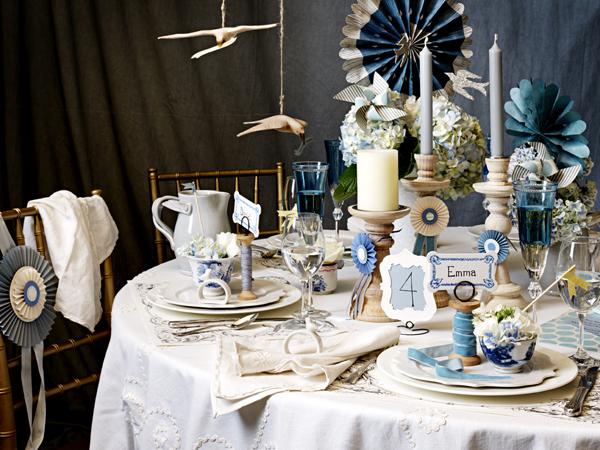 Оригинальная сервировка свадебного стола