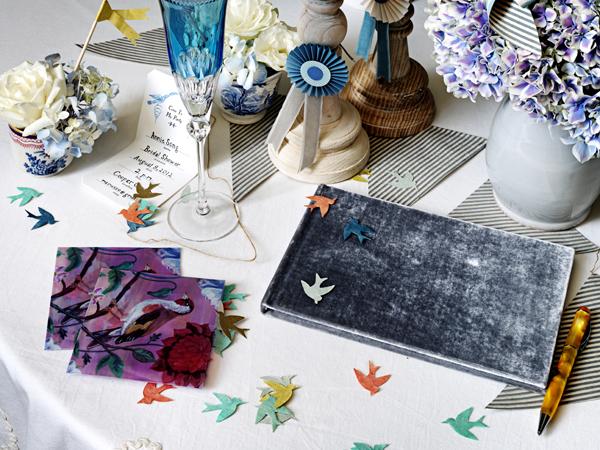 Необычная сервировка свадебного стола