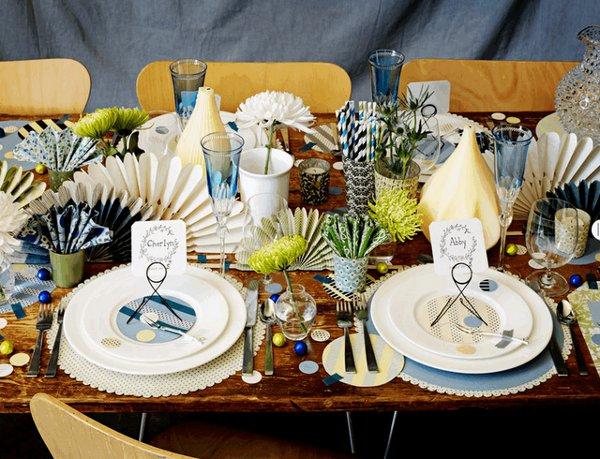Шикарная сервировка свадебного стола