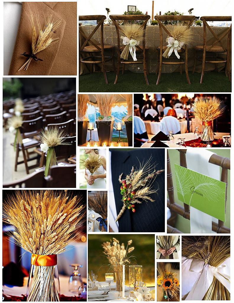 Украшения из снопов пшеницы