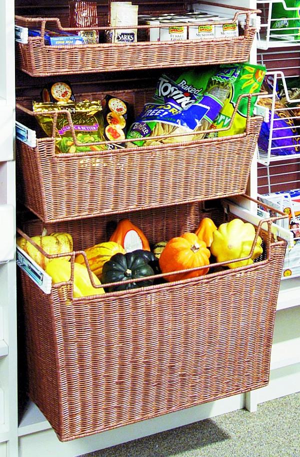 Корзины для хранения вещей в шкафу своими руками 96