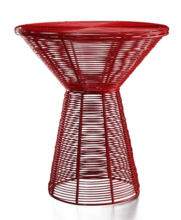 Ярко-красный столик Filo