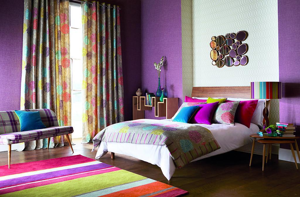 Шикарные шторы в интерьере помещения
