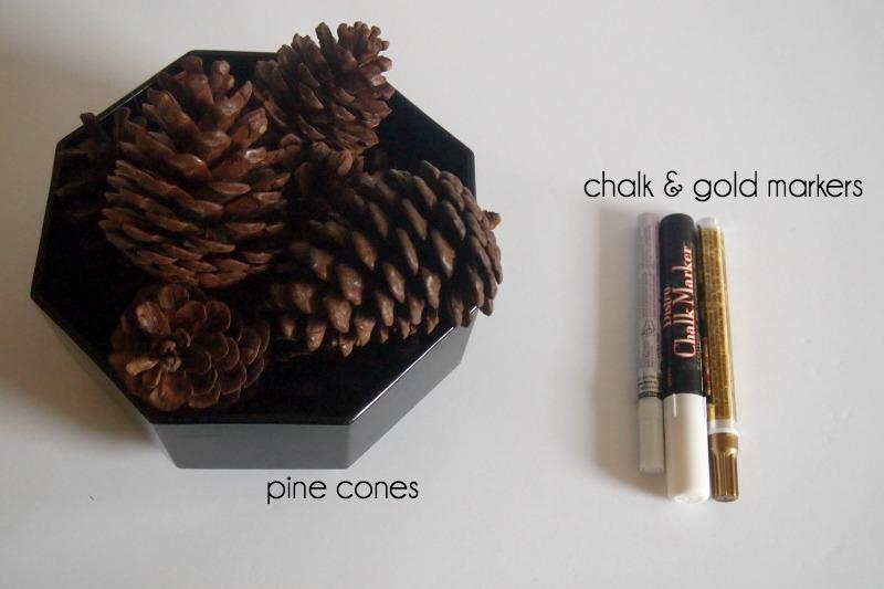 Шишки и маркеры для создания декора