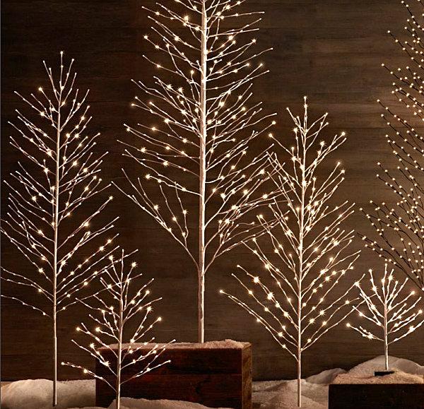 Светящиеся дерево в интерьере