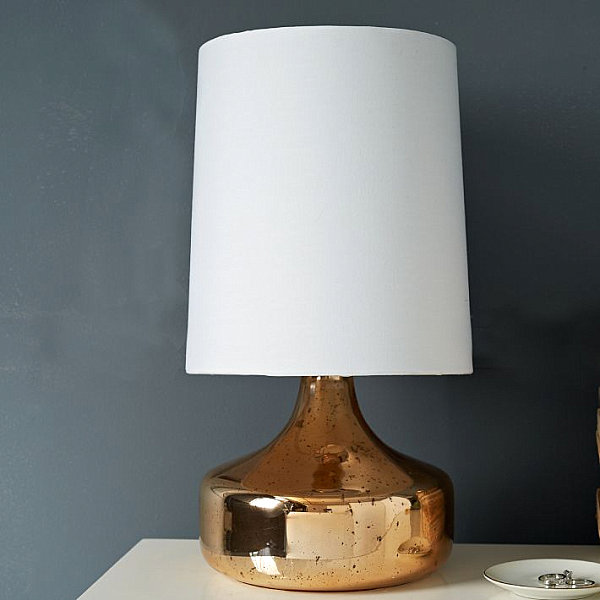 Настольная лампа из меди