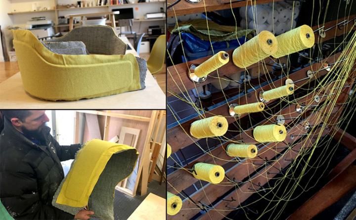 Процесс изготовления кресла Frame
