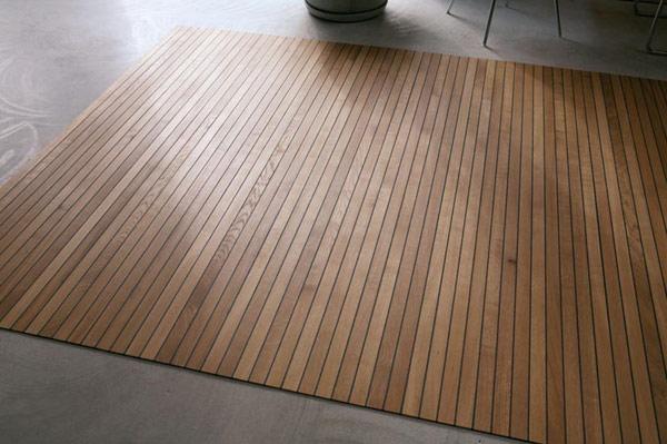 Ampliando los límites de los pisos tradicionales: los magníficos tapetes de madera de Legno-Legno de Ruckstuhl