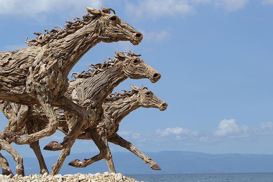 Чудесные конные скульптуры британского скульптора Джеймса Доран-Уэбба