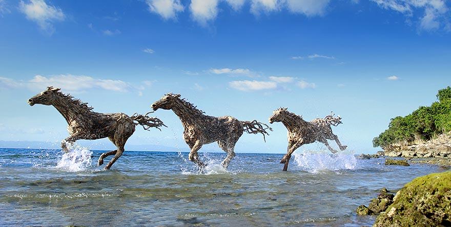Прекрасные конные скульптуры британского скульптора Джеймса Доран-Уэбба