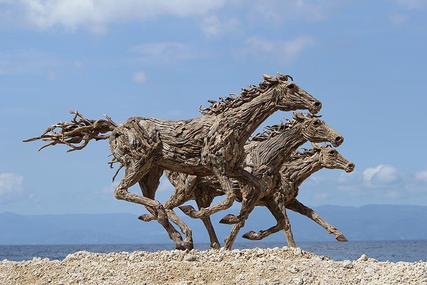 Очаровательные конные скульптуры британского скульптора Джеймса Доран-Уэбба